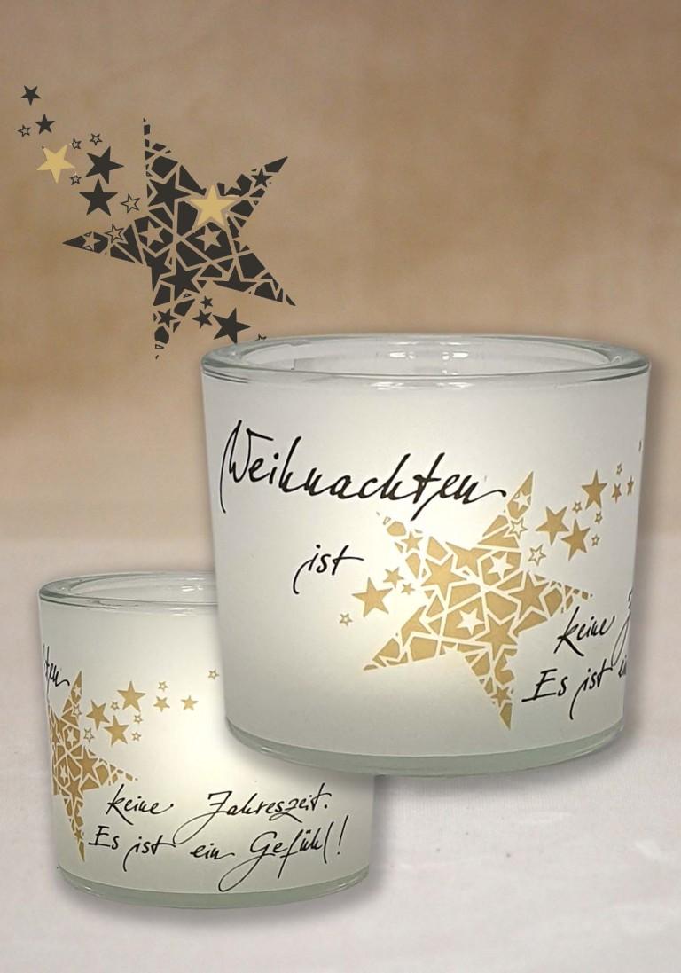 """Poesie-Glaslicht """"Weihnachts-Gefühl"""""""