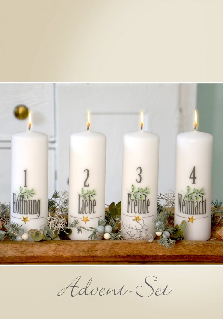 "Advent-Set ""Hoffnung-Liebe-Freude-Weihnacht"""
