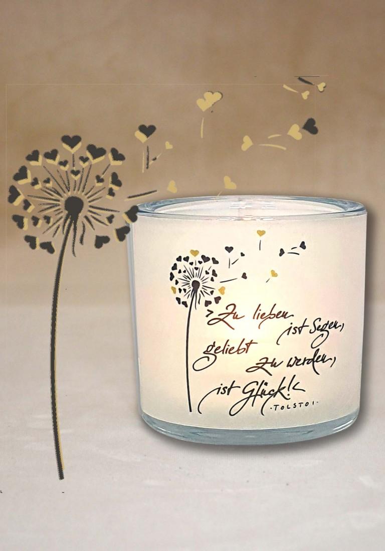 """Poesie-Glaslicht """"Liebe"""""""