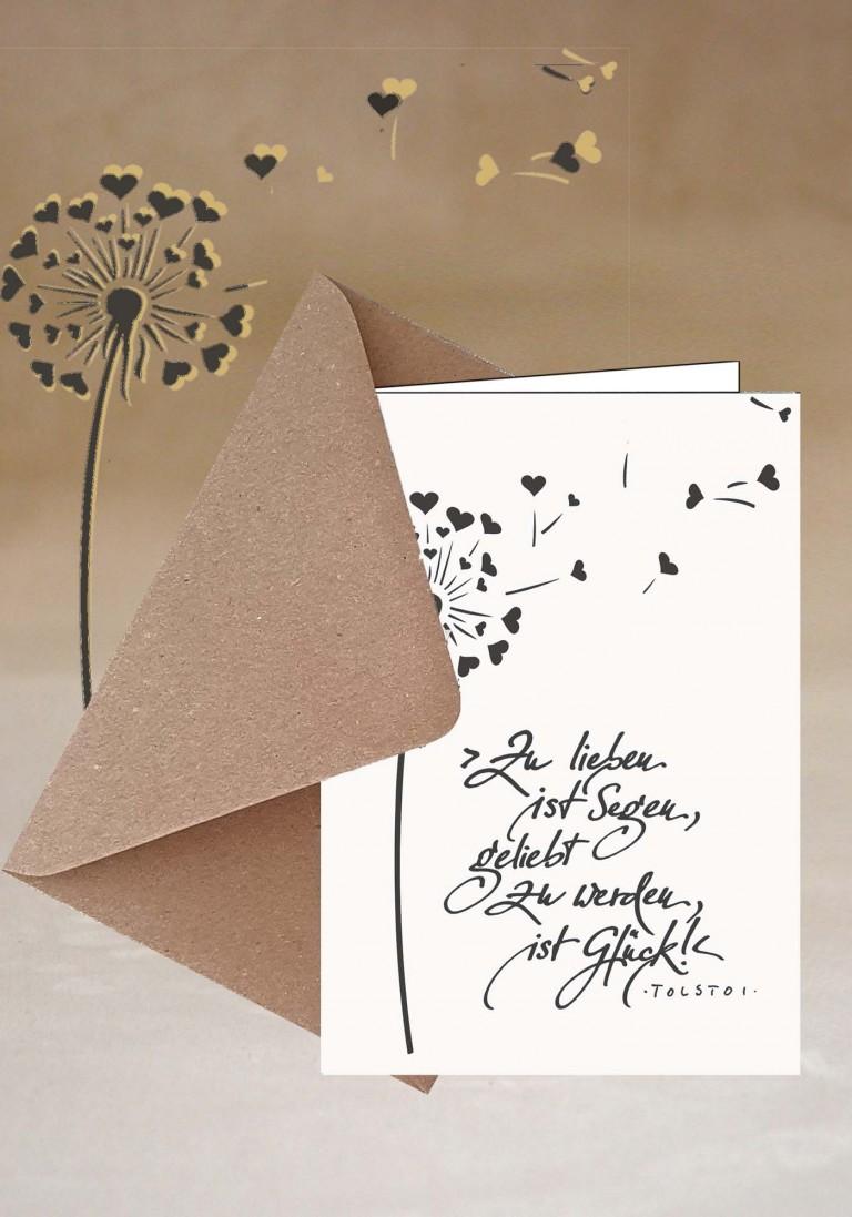 Grußkarte - Zu lieben ist Segen -