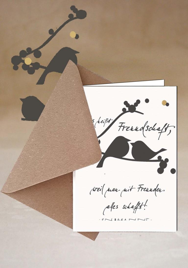 Grußkarte- Freundschaft