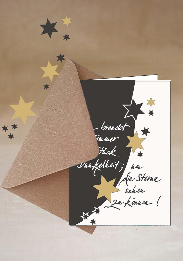 Grußkarte- Die Sterne sehen