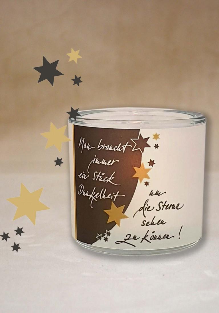 """Poesie-Glaslicht """"Die Sterne sehen"""""""